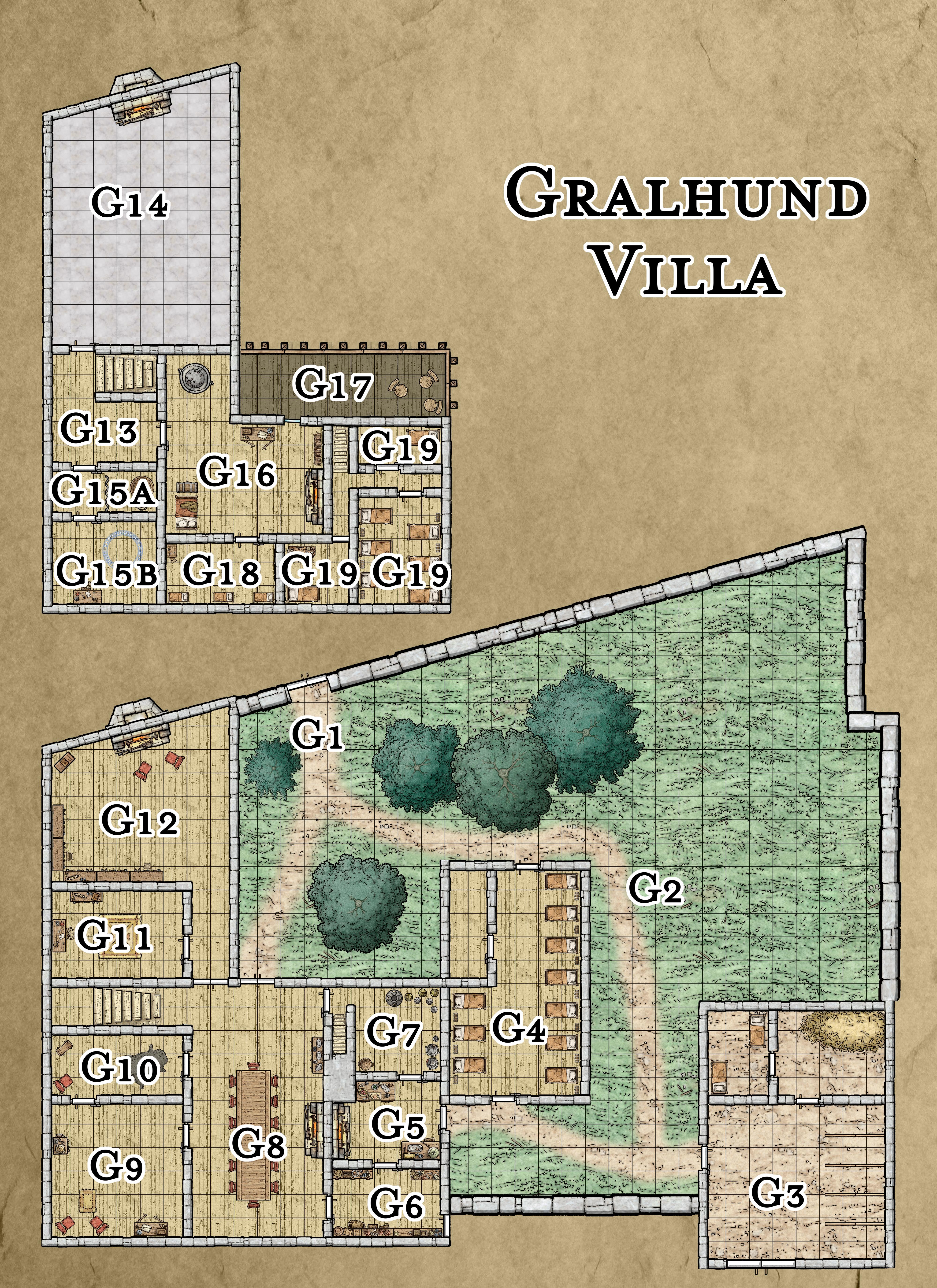 Gralhund Villa, 40x55, DMs