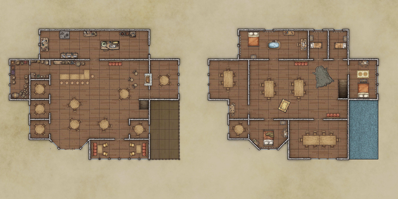 Elfsong Tavern Map 40x20 Gridded Free